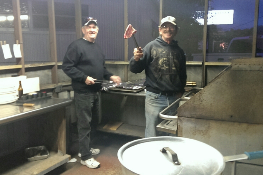 01-17-2014 Steak Night - Larry & Rob